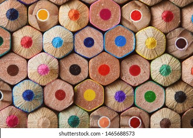 Colorful Pencils End Macro Background