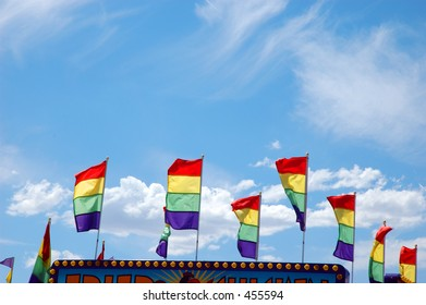 Colorful pennants at the Fair