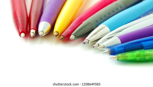 Colorful pens, biros, business