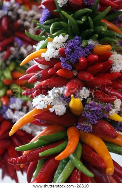 colorful pepper string