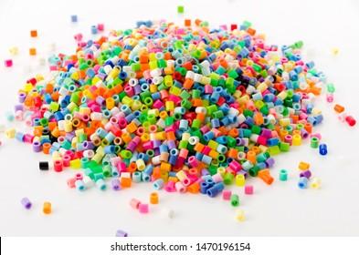 Colorful perler beads (Hama Beads)