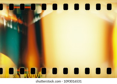 Colorful photographic filmstrip