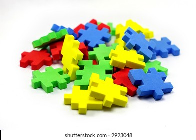 A Colorful Picture Of Puzzle Pieces This Version Shows All Lose