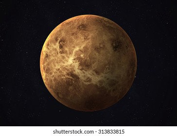 Colorful picture represents Venus. Elements of this image furnished by NASA.