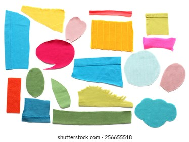 Colorful pieces of fabric