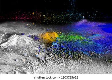 colorful pigments composition