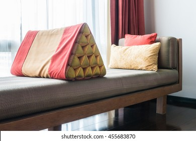 Colorful Pillow on sofa decoration in living room interior
