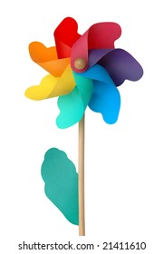 Colorful pin wheel isolated