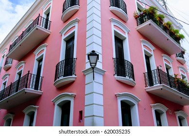 Colorful Pink House in Puerto Rico