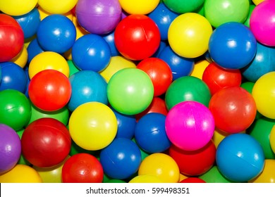 Colorful plastic balls in which children can jump, swim and play