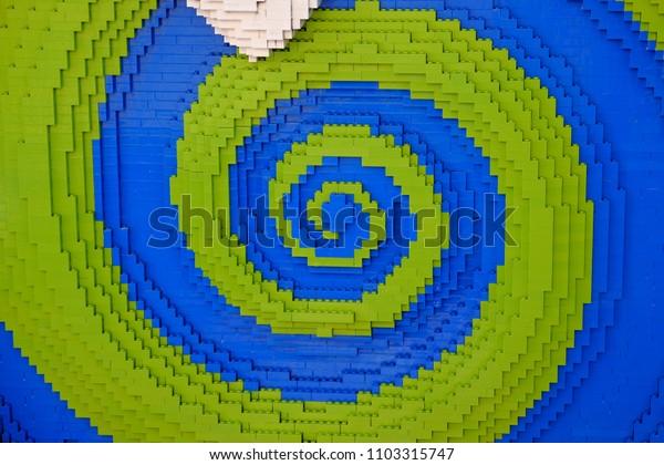 Colorful Plastic Blocks Background