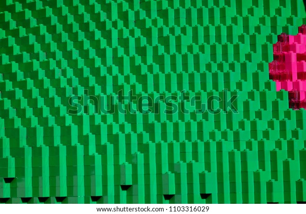 Colorful Plastic Blocks Background