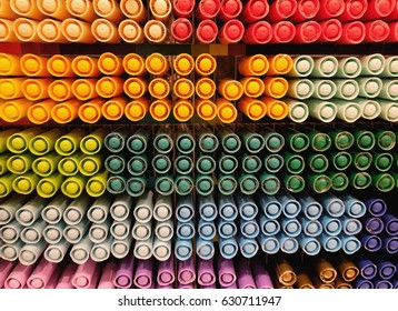 Colorful of plastic circle background - Shutterstock ID 630711947