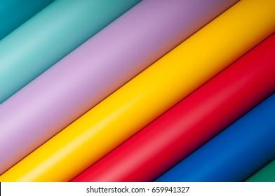 Colorful plastic film