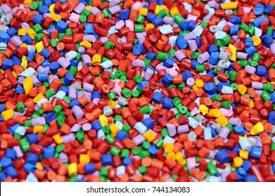 colorful plastic polymer granule
