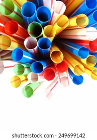 Colorful plastic straw, colored abstract motive