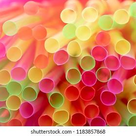 Colorful plastic straws