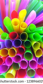 Colorful of plastic tubes