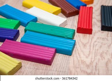 colorful plasticine blocks