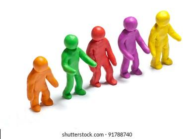 colorful plasticine guys