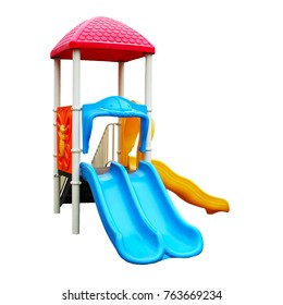 Colorful playground for children. Isolated on white background