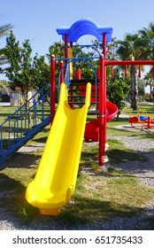 Colorful playground in park