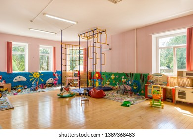 Colorful playroom in the kindergarten