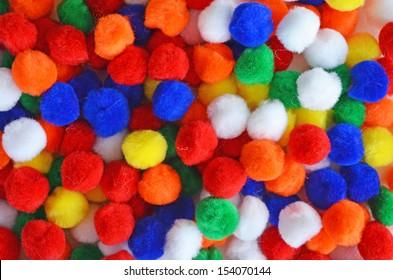 Colorful Pom Poms