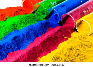 colorful of powder coating.