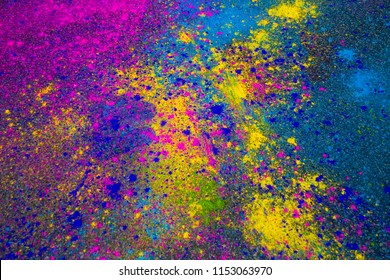 Colorful Powder for Color Run, or conceptual image for any artistic and fun activity.