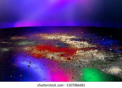 colorful powder pigments composition