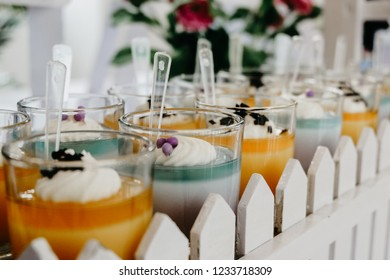 colorful puding in the wedding
