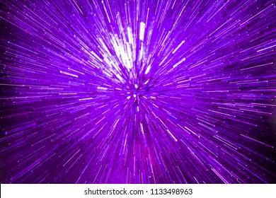 Colorful purple light explosion image