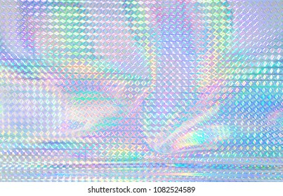 Colorful rainbow color hologram.