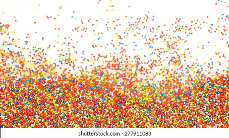 Colorful rainbow sprinkles background