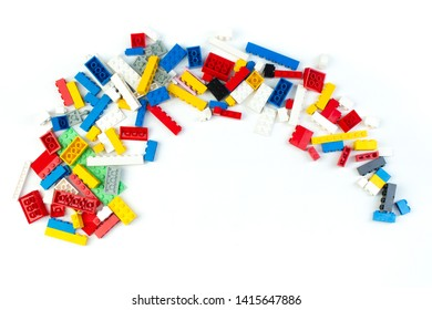 4 ~ White Dome Bricks w// Painted Face Bricks ~ Brick ~ New Lego Bricks ~