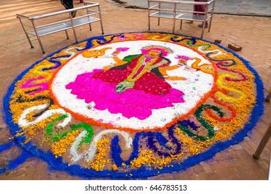 colorful rangoli