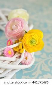 Colorful ranunculus bouquet