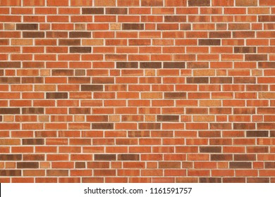 Colorful red and brown brick wall background in a Flemish stretcher bond pattern