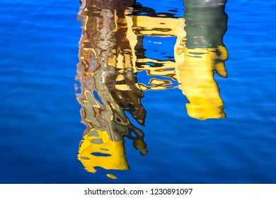 Colorful reflection in the water.