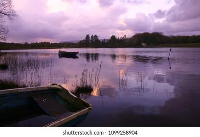 Colorful Reflections on cloudy November evening at Hazelwood Bay, Sligo, Ireland