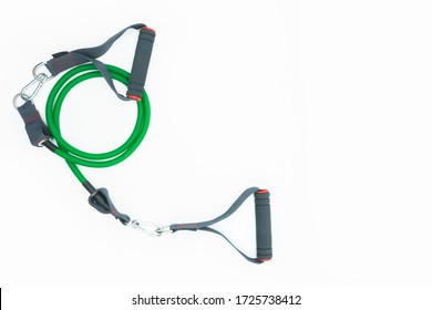 Colorful resistance band isolated on the white background.