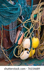 The Colorful Rigging on a Fishing Boat