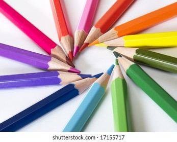 Colorful ring of pencils.
