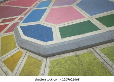 Colorful road pavement