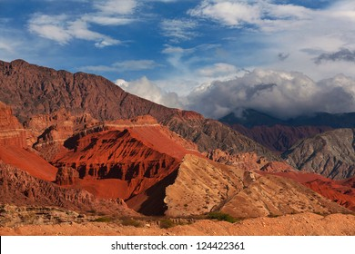 Colorful rock formation, El Cafayate, Salta, Argentina