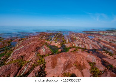Colorful rocky shore