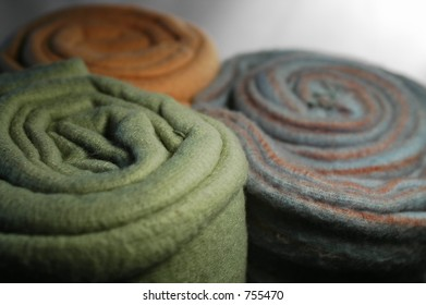Colorful Rolled Fleece