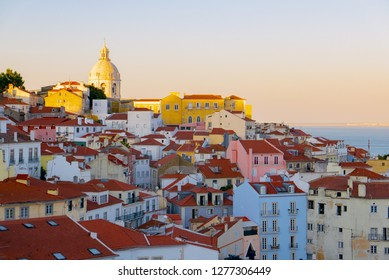 colorful roofs of houses in Lisbon