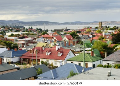 Colorful rooftops, Hobart, Tasmania, Australia